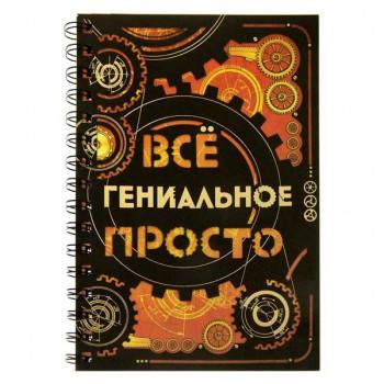 """Оригинальный ежедневник """"Все гениальное просто"""""""