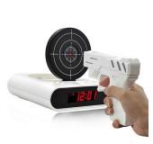 Будильник с мишенью и лазерным пистолетом «Снайпер»