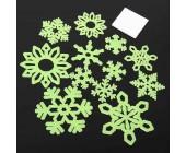 Светящиеся наклейки Снежинки