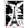 """Стикер на стену """"Я люблю Париж"""""""