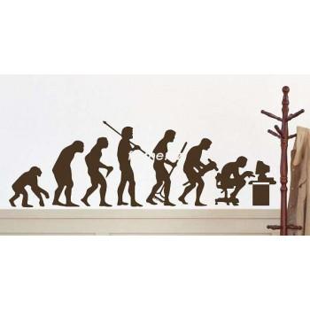 "Стикер на стену ""Эволюция"""