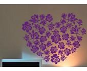 """Стикер на стену  """"Цветочное сердце"""""""