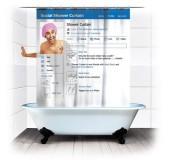 """Занавеска для ванной """"Социальная сеть"""""""