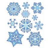"""Новогодние наклейки """"Снежинки"""""""