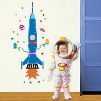 """Виниловый стикер-измеритель роста """"Ракета"""""""