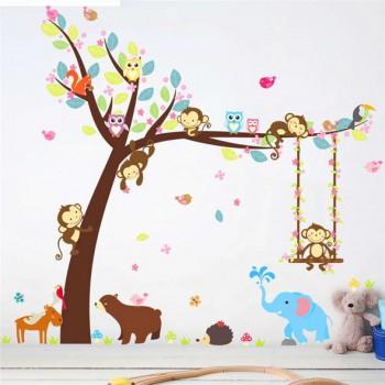 """Виниловый стикер для детской комнаты """"Little Monkeys"""""""
