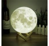 Qeyri-adi dekorativ gecə lampası 3D Ay