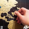 """""""Açılışlar"""" Scratch-map dünya xəritəsi"""