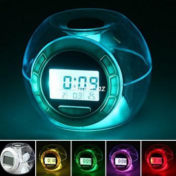 """Часы-будильник-термометр """"Семицветик"""""""