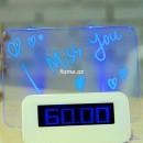 Часы-будильник с LED доской