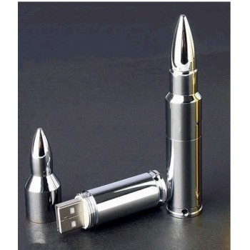 """USB флешка """"Пуля серебряная"""" 8Gb"""
