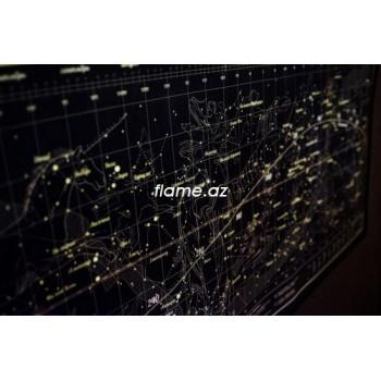 Gagarin Map светящаяся в темноте карта звездного неба