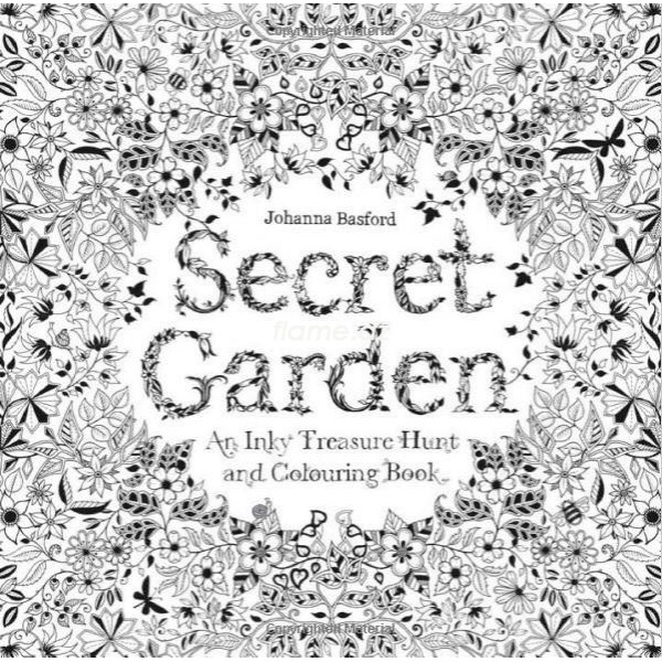 раскраска антистресс для взрослых Secret Garden