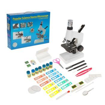 """Микроскоп """"Натуралист"""" с объективом и подсветкой, набор для исследований"""