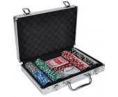 Набор для покера Игра Дипломат для покера (карты 2 колоды, фишки 200 шт)