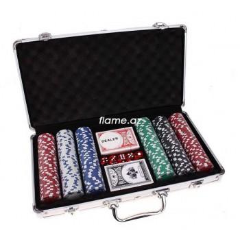 """Сувенирный Набор для игры в покер """"Flash Royal"""" на 300 фишек"""
