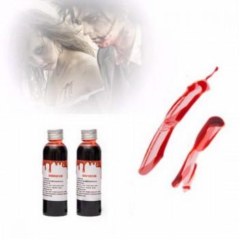 Поддельная кровь для Хэллоуина (бутафория)