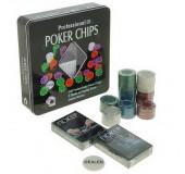 Набор для игры в покер (карты 2 колоды, фишки 100 шт)