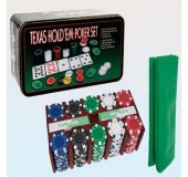 Poker dəsti (nominalla 200 fişka + parça)