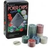 Подарочный Покер, набор для игры ,фишки 100 шт 11.5х19 см