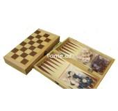 Шахматы, шашки, нарды набор настольных игр