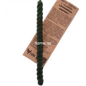 Свеча-скрутка с травами «Денежное дерево»