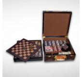 Oyunlar hədiyyəlik dəsti: nard, şahmat, qılınclar, domino, kartlar, poker