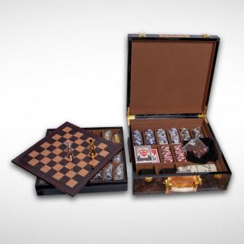 Подарочный набор игр 6-в-1: нарды, шахматы, шашки, домино, карты, покер