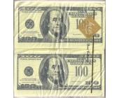 """Салфетки бумажные  100 Euro"""", """"100 Dollars"""""""