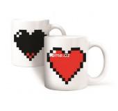 """Необычная Кружка-хамелеон """"Pixel Heart"""""""