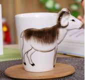 Кружка керамическая с 3D животными
