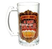 """Кружка пивная """"Миру-мир, а мне Beer"""", 400 мл"""