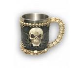 Металлическая кружка Skull 3D