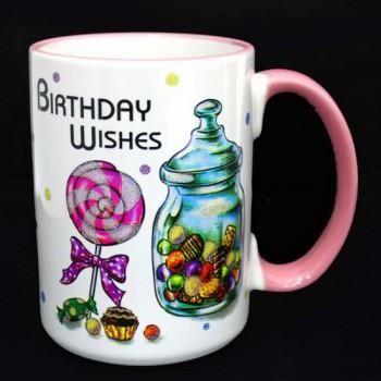 Кружка керамическая Birthday Wishes 500 мл