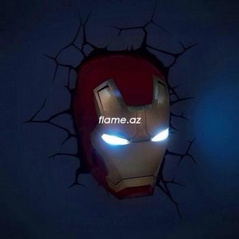 """Пробивной 3D светильник """"Железный человек"""""""