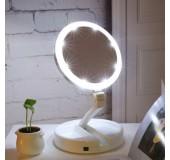 Настольное зеркало для макияжа с LED подсветкой