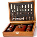 Подарочный набор с шахматами, флягой и стопками(средний)