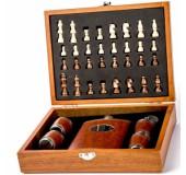 Подарочный набор с шахматами, флягой и стопками(маленький)
