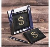 """Подарочный набор: кошелек + ручка """"Самому успешному"""""""