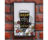 """Копилка для пивных крышек """"Keep calm & drink beer"""""""
