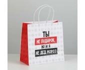 Пакет подарочный «Ты не подарок»