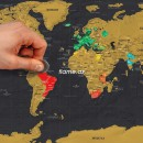 """Скретч-карта """"Карта мира Black"""""""