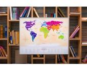 """Необычная Скретч-карта мира """"Travel Map"""" gold"""