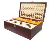 Набор подарочный винный с шахматами