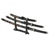 Сувенирный набор самурайских мечей на подставке, 3 шт