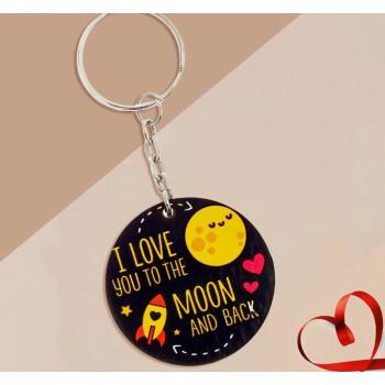"Брелок деревянный ""I love you to the moon and back"""
