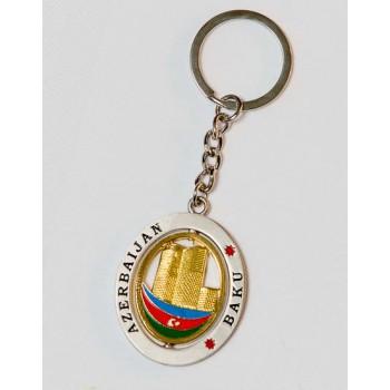 Брелок сувенирный с символами Азербайджана