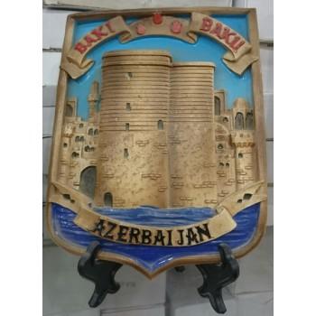 Национальный Азербайджанский сувенир-миниатюра на подставке