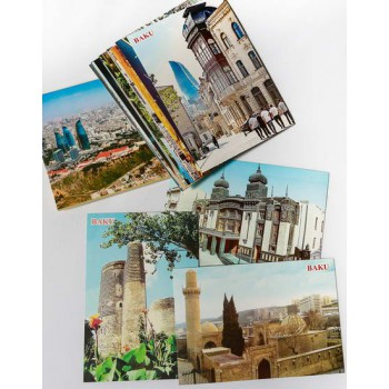 Набор открыток с видами Баку