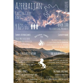 "Открытка ""Greetings from ... Azerbaijan"""